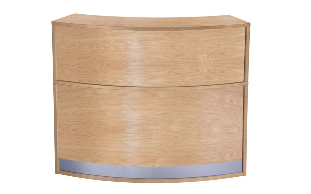 Curved Reception Counter, Full Height, One Complete Section, 872mm Deep, Choice of Finish